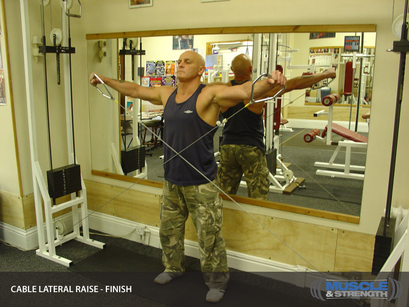 cable lateral raise video exercise guide  u0026 tips