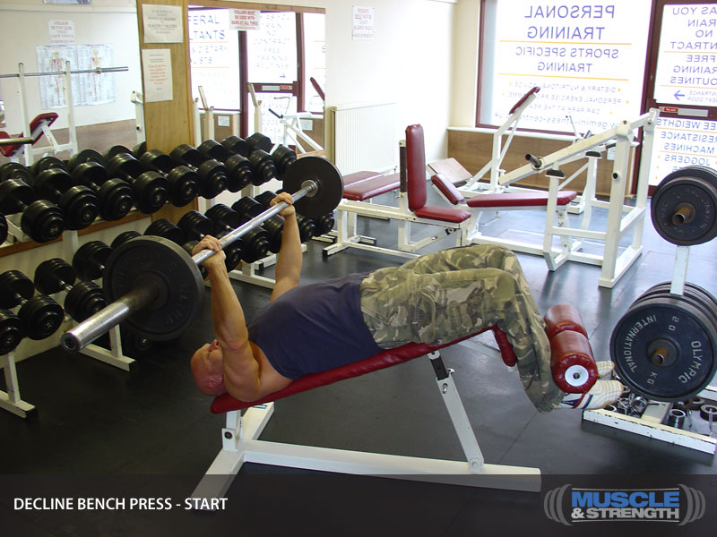 Decline Bench Press Video Exercise Guide & Tips | Muscle ...  Decline Bench P...