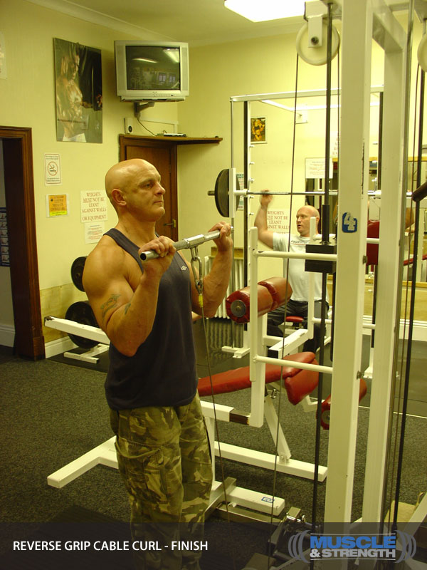 reverse grip cable curl video exercise guide amp tips