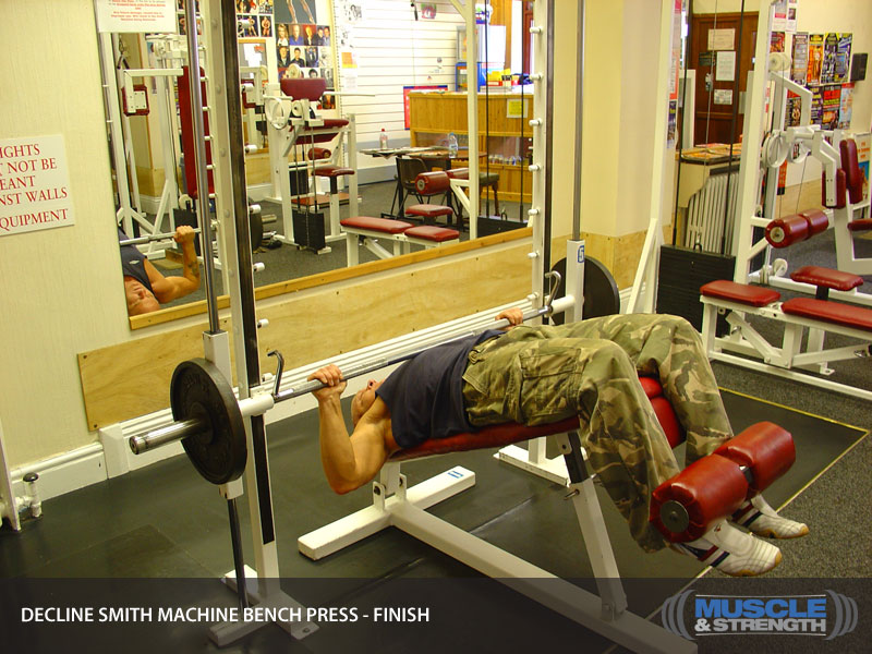 Decline Smith Machine Bench Press Video Exercise Guide