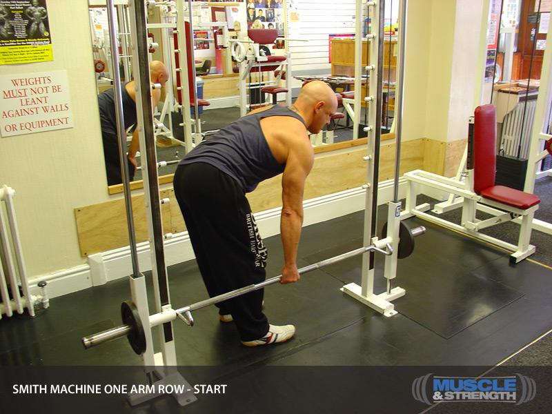 single arm row machine