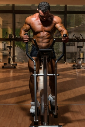 Bodybuilder Doing Cardio