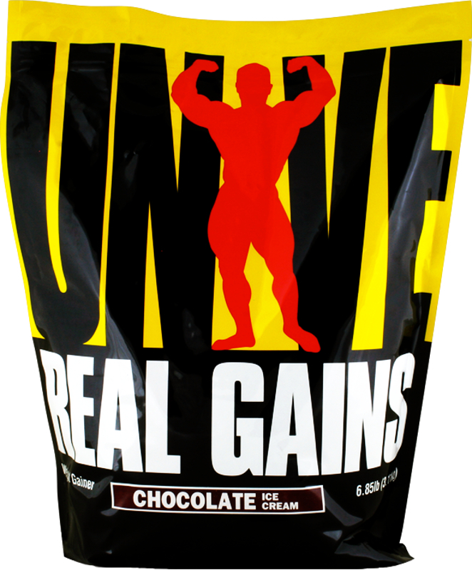 Universal Nutrition Real Gains - 6.85lbs Strawberry Ice Cream