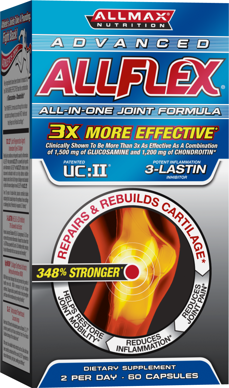 AllFlex is designed to promote fast recovery and mobility by reducing inflammation associated with intense physical activity. As a proprietary blend it has been formulated for both active individuals and competitive athletes who participate in high intensity exercises.
