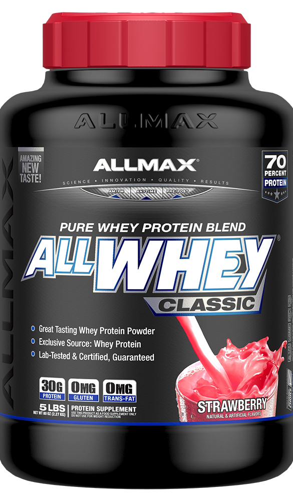 AllWhey Classic is a true protein blend using only Whey Protein that delivers 30g of guaranteed pure and tested protein!*