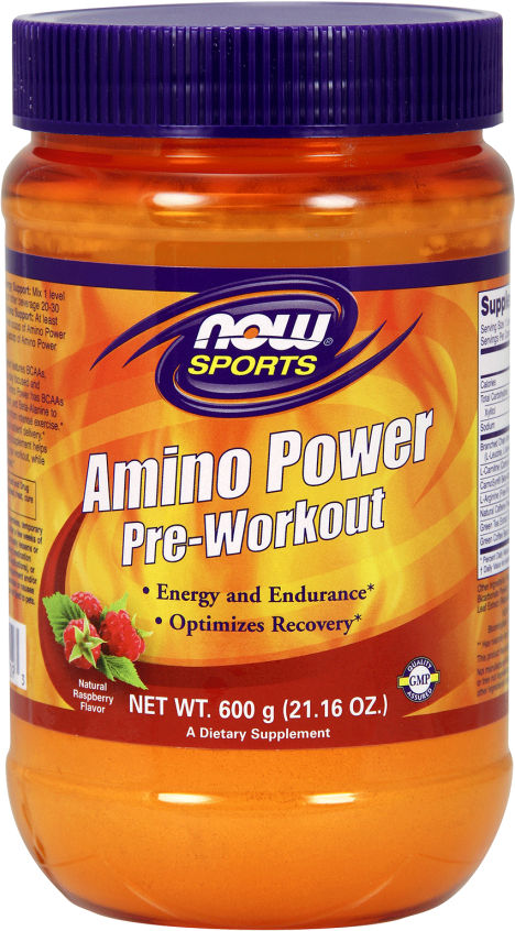 NOW Foods Amino Power Pre-Workout - 35 Servings Fruit Punch NW0221