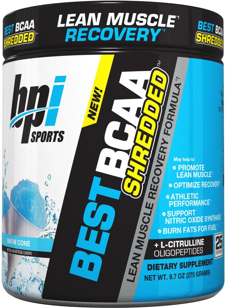 BPI Sports Best BCAA Shredded - 25 Servings Snow Cone BP0249