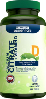 Calcium Citrate + Vitamin D: Buy 2 Get 1 FREE - 120 Tablets
