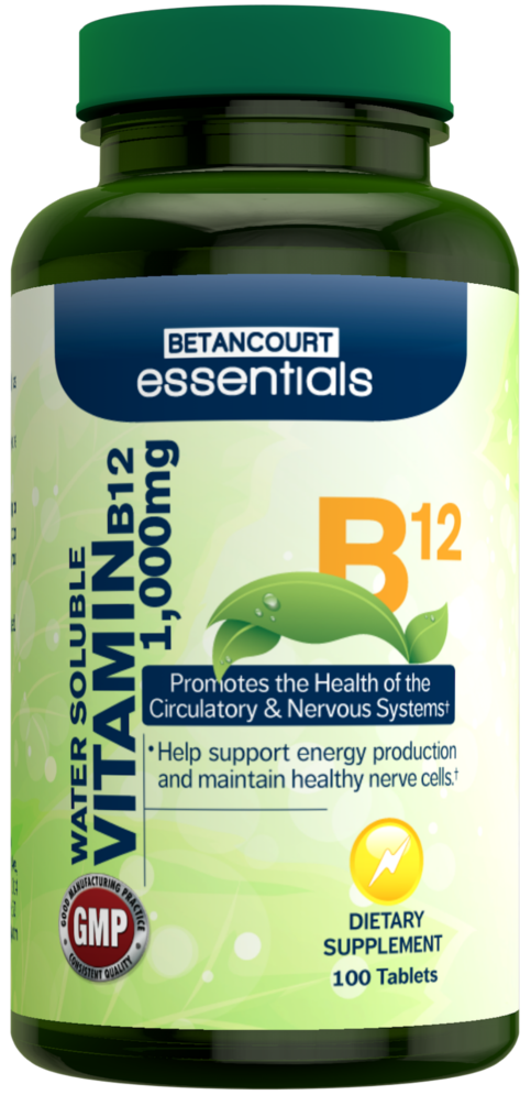 Betancourt Essentials Vitamin B12 - 100 Tablets