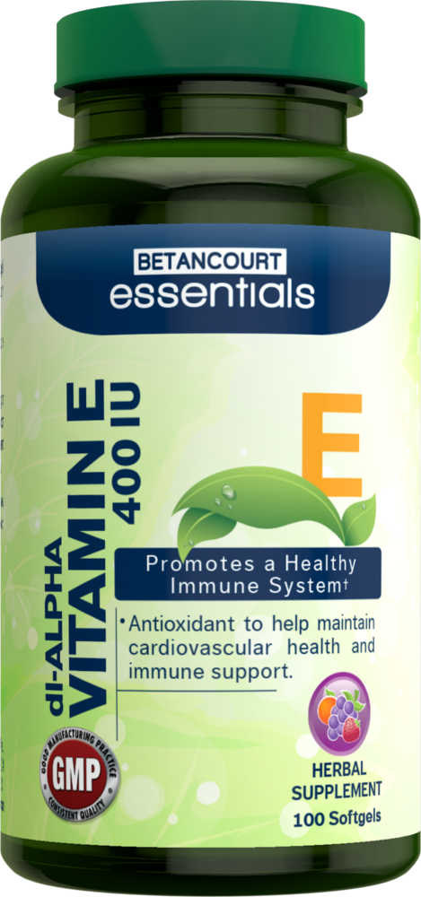 Betancourt Essentials Vitamin E - 400 IU/100 Softgels