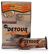 Detour Detour Oatmeal Bar - Box Of 12 Peanut Butter Chocolate Chip