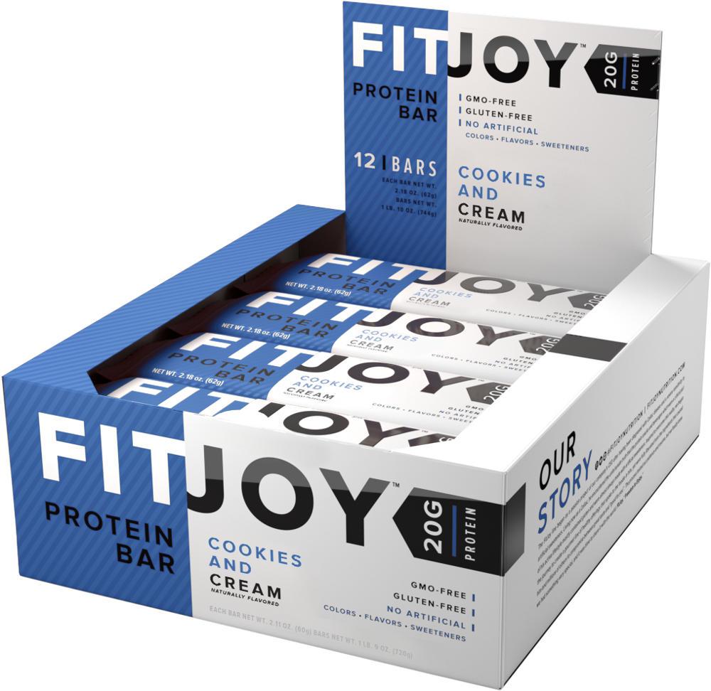 Cellucor FitJoy Bars – Box of 12 Cookies & Cream