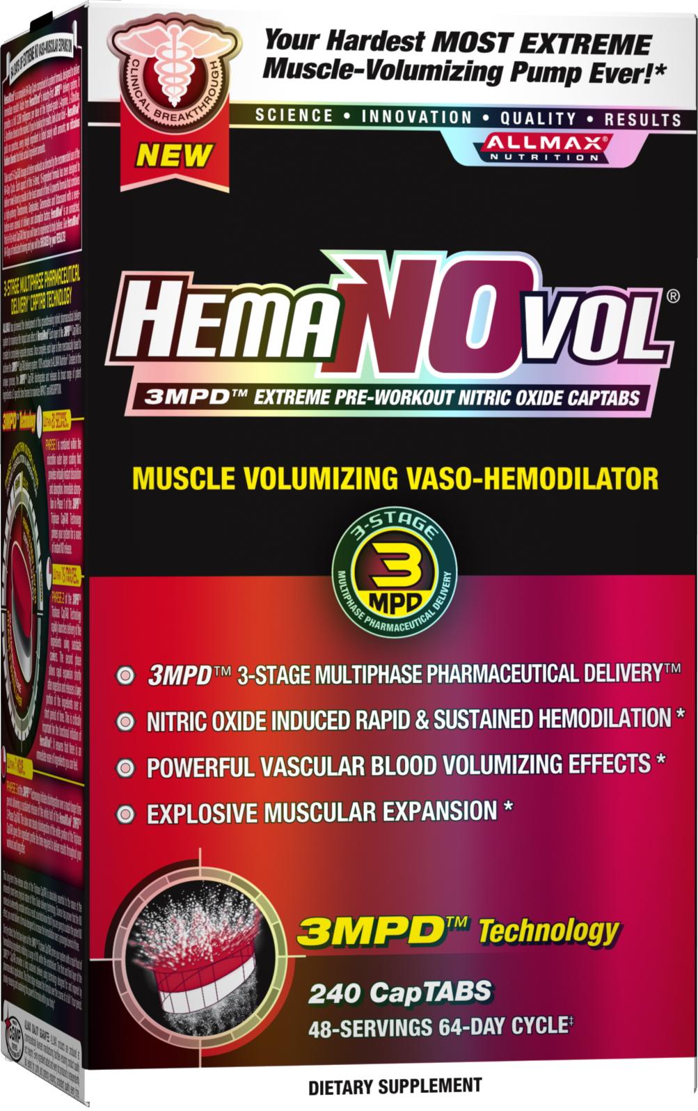 AllMax Nutrition HemaNOvol - 240 CapTABs