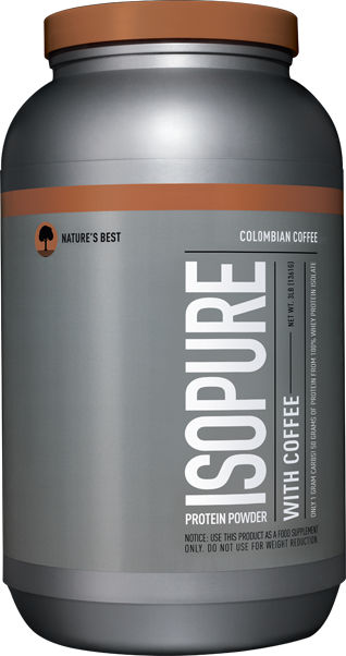 Nature's Best Isopure Protein Powder with Coffee Columbian 3 lbs