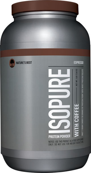 Nature's Best Isopure Protein with Coffee, Espresso, 3 lbs