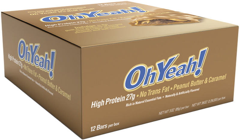 ISS Oh Yeah! Bars - Box of 12 Peanut Butter & Caramel