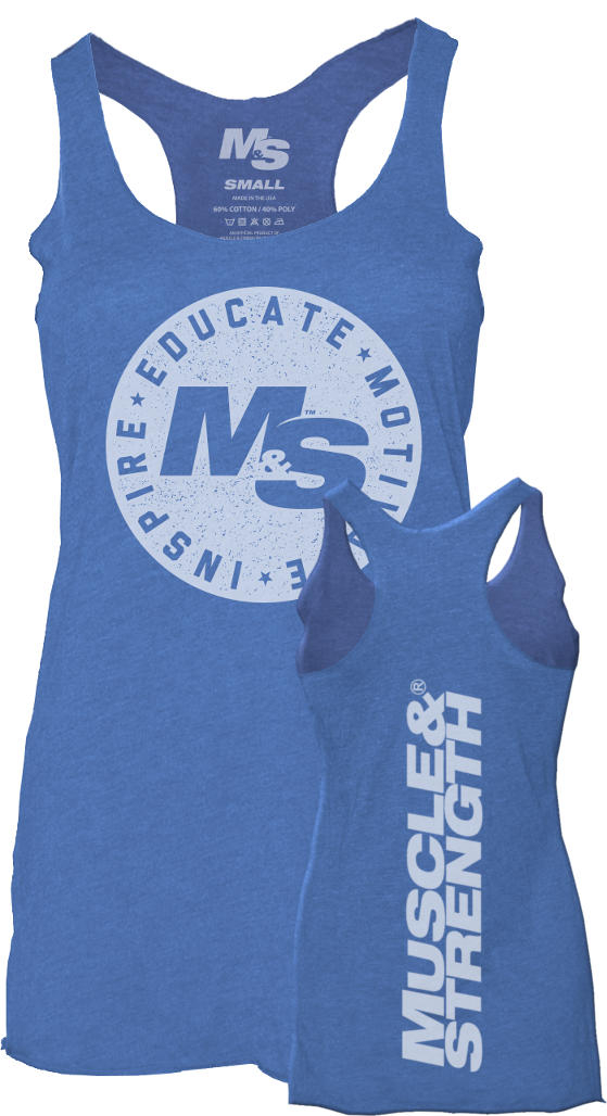 Muscle & Strength Womens Seal Tank – Blue XSmall