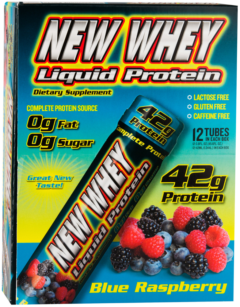 New Whey Nutrition New Whey Liquid Protein 42 - 12 Pack Blue Raspberry