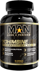 MAN Sports Yohimbine HCL - 60 Capsules
