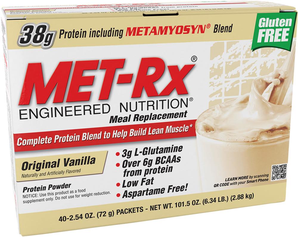 MET-RX Meal Replacement - 40 Packets Original Vanilla