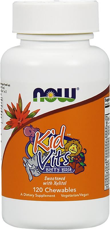 Image of NOW Foods Kid Vits - 120 Chewables Berry Blast Berry Blast