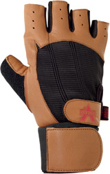 Image of Valeo Ocelot Lifting Gloves With Wrist Wrap - Black XL