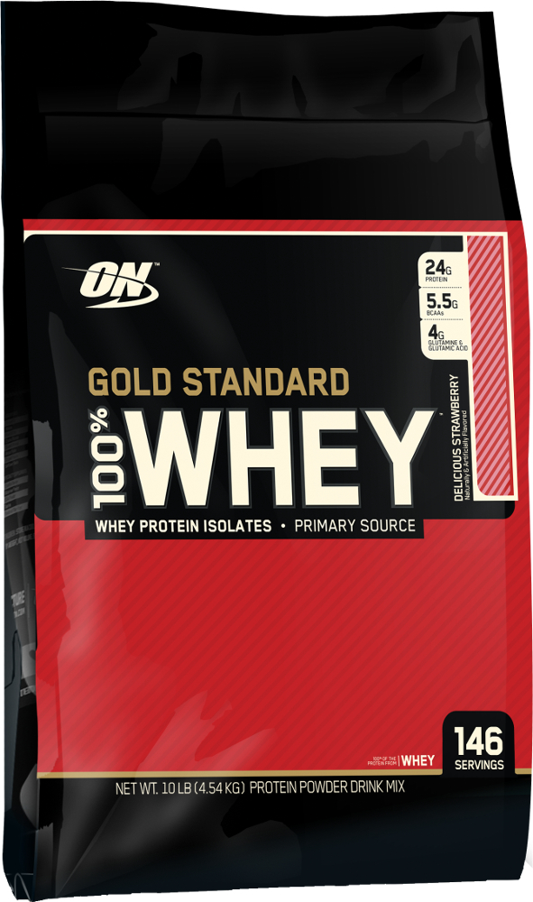 Image of Optimum Nutrition Gold Standard 100% Whey - 10lbs Delicious Strawberry