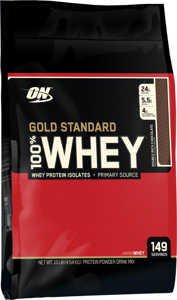 Optimum Nutrition Gold Standard 100% Whey - 10lbs Double Rich Chocolat