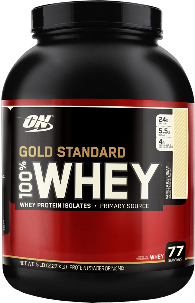 Optimum Nutrition Gold Standard 100% Whey - 5lbs Vanilla Ice Cream