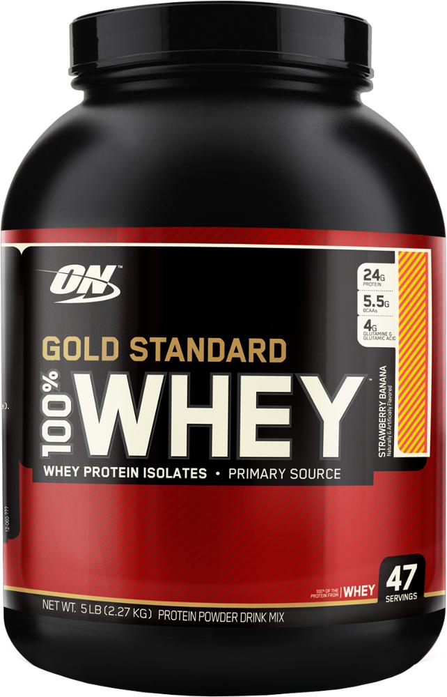 Optimum Nutrition Gold Standard 100% Whey - 5lbs Strawberry Banana