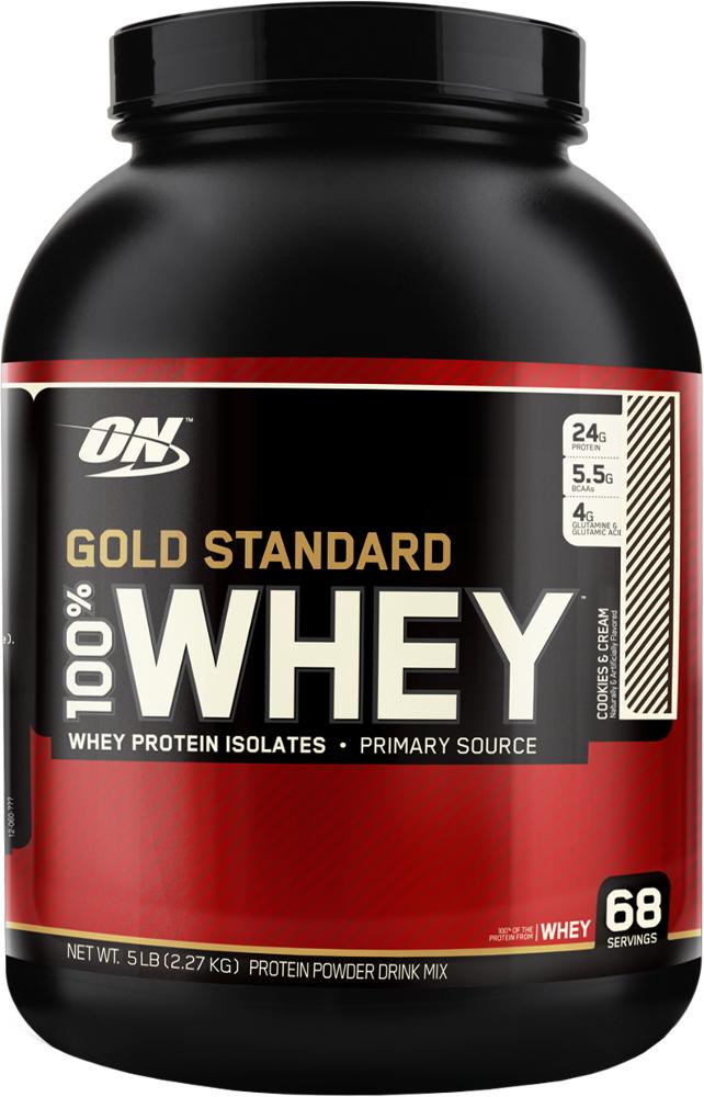 Optimum Nutrition Gold Standard 100% Whey - 5lbs Cookies & Cream