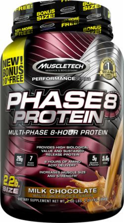 MuscleTech Phase8 - 2.2lbs Milk Chocolate