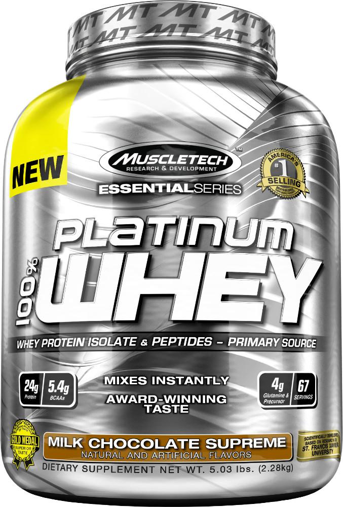 MuscleTech Platinum 100% Whey - 5lbs Vanilla Cake