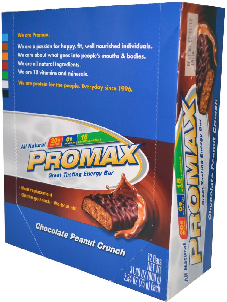 Promax Protein Bar - Box of 12 Chocolate Peanut Crunch