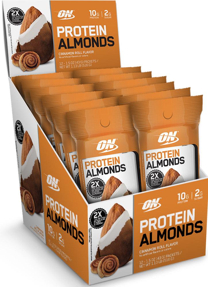 Optimum Nutrition Protein Almonds – 12 Pack Cinnamon Roll