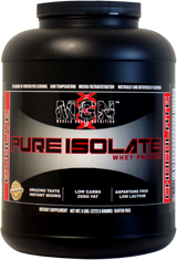 MGN Pure Whey Protein Isolate   10lbs Strawberry Banana