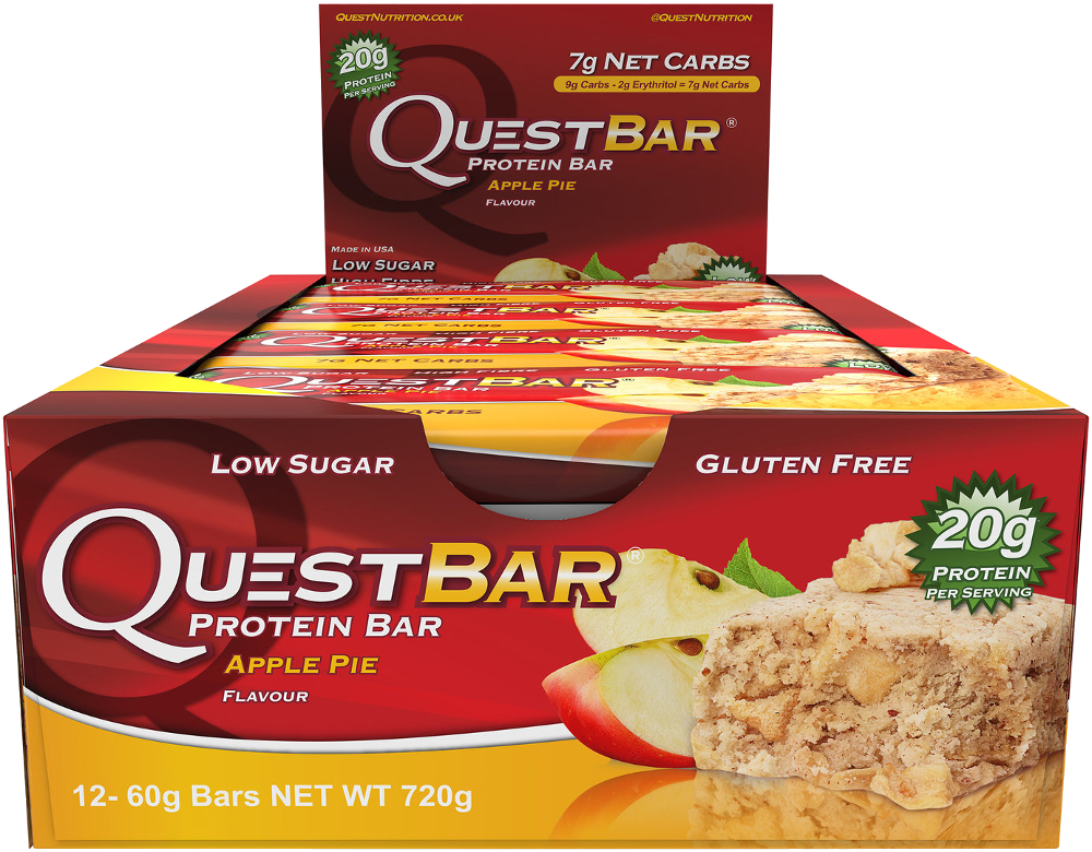 888849000647 upc quest nutrition protein bar apple pie for Muscle food quest bar