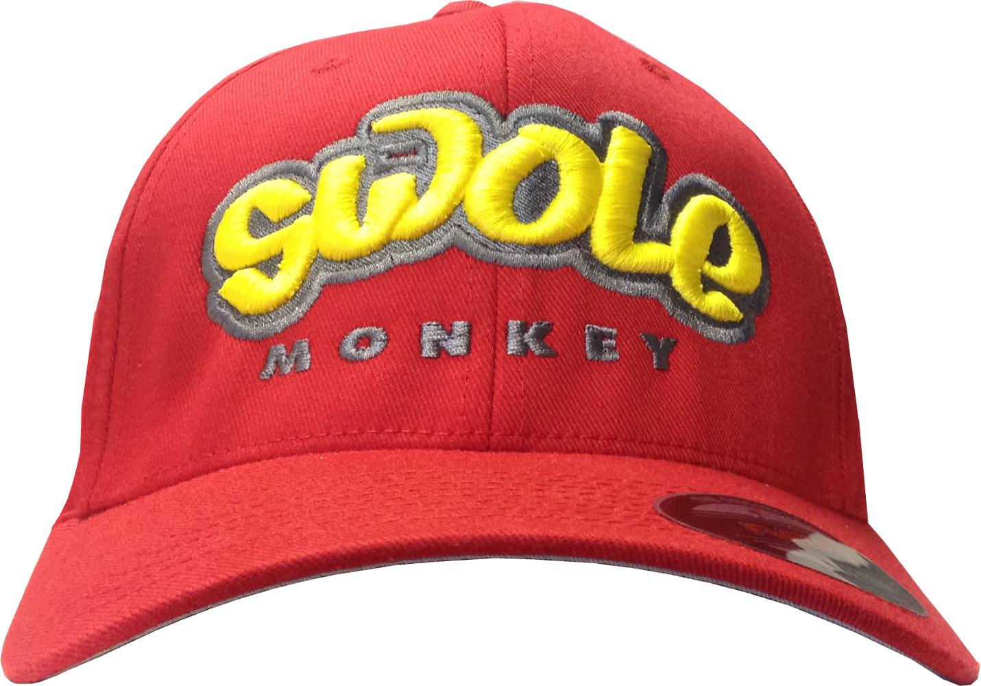Cutler Athletics Swole Monkey Flexfit Hat - L/XL Red CA0006