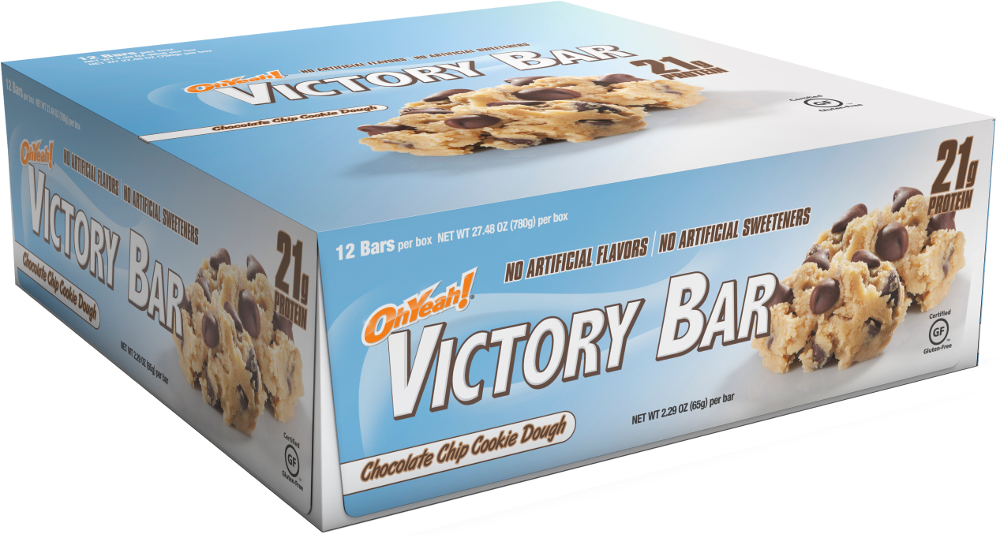Image of ISS Oh Yeah! Victory Bars - Box of 12 Chocolate Chip Cookie Dough