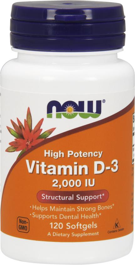NOW Foods Vitamin D-3 - 5,000IU 240 Softgels