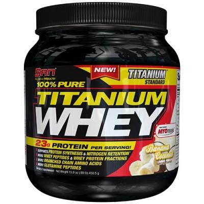 SAN Titanium Whey Protein 1lb: BUY 1 GET 1 FREE!