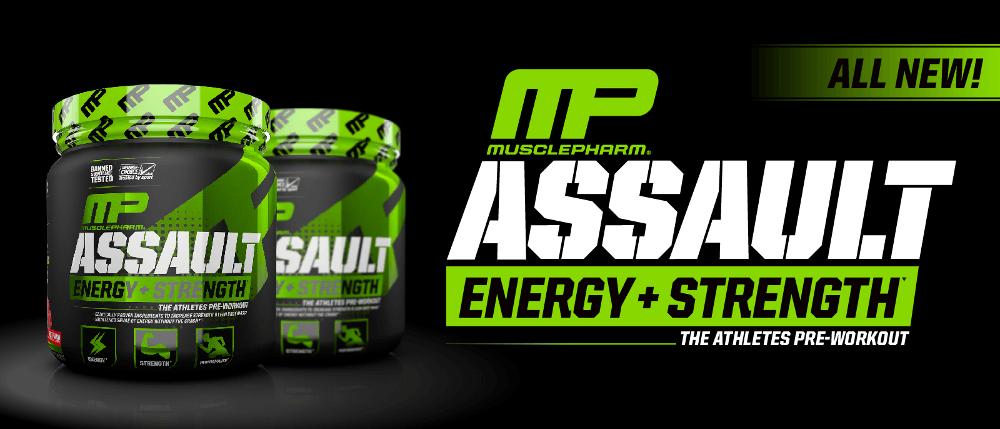 MusclePharm Assault Sport Header