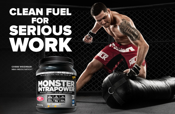 Monster IntraPower- Clean Fuel for Serious Work banner