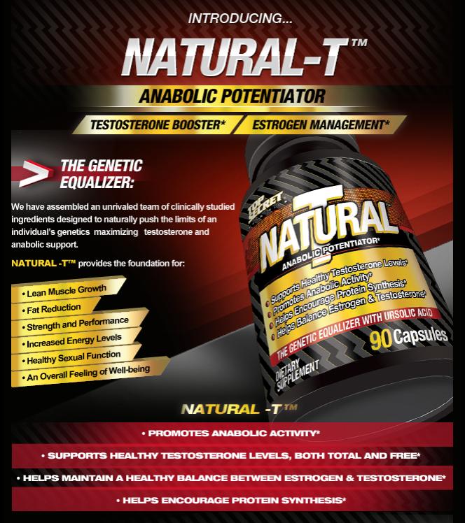 Top Secret Nutrition Natural T انواع مکمل های بدنسازی