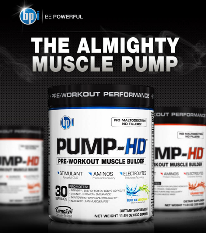 BPI Sports PUMP-HD Footer