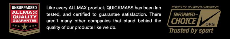 QuickMass Quality Guarantee